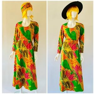 Vintage 60's-70's Tori Richard Honolulu Maxi Dress